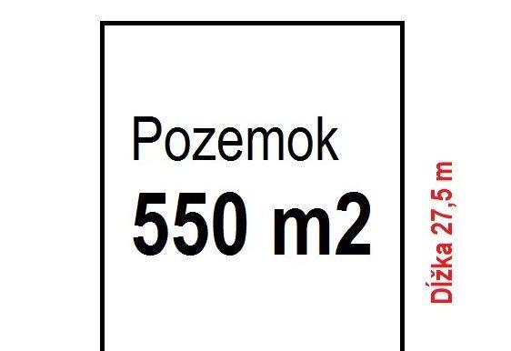 550m2 Pozemok klasický