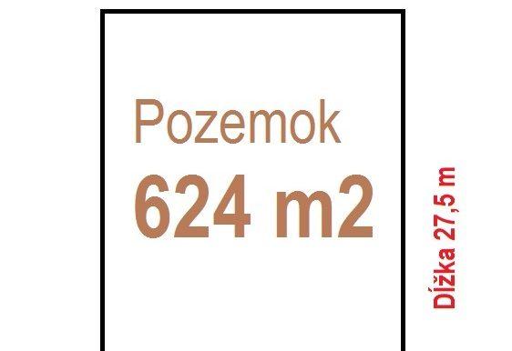 624m2 Pozemok klasický