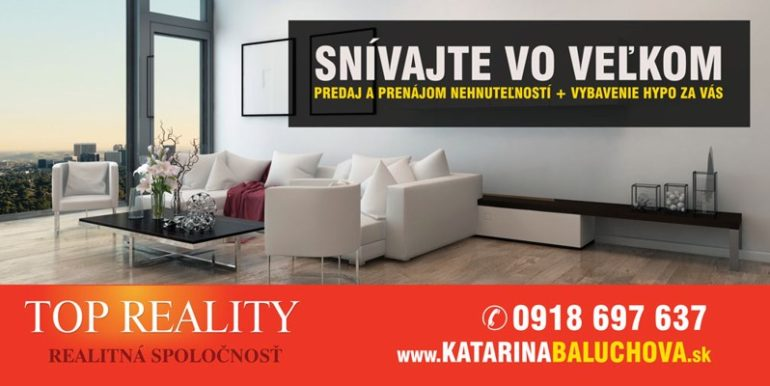Baluchová Katarína  0918 697 637     Top Reality Galanta
