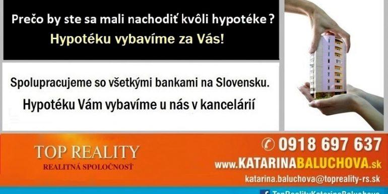 Katarina Baluchova Hypotéky 0918697637 Top Reality Galanta www.KatarinaBaluchova.sk