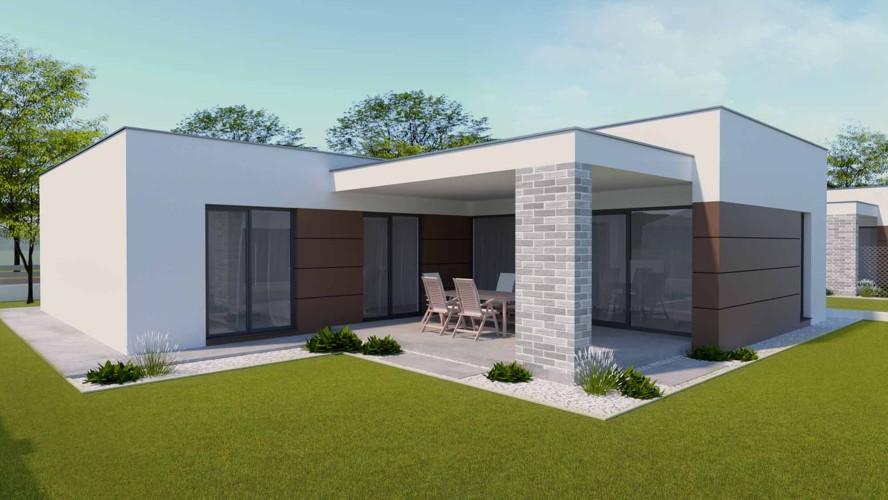 Novostavba 4 izbový rodinný dom (115,75 m2), veľká terasa, pozemok 445 m2, Galanta mesto