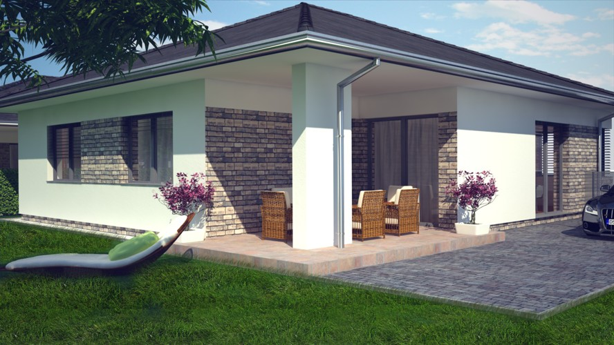 4 izbový rodinný dom s terasou (151 m2) s vlastným pozemkom do 600 m2 a parkoviskom pre 3 autá. Galanta pri Galandií Mládežnícka štvrť, 168.000 €