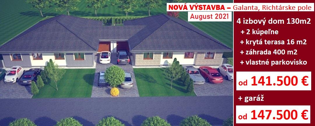 4 izbový dom 130 m2 pozemkom 400 m2. Galanta, Richtárske pole